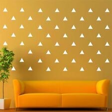 "96 of 3"" White Triangle Removable Peel & Stick Wall Vinyl Decal Sticker"