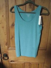 Majestic fillitures Paris womens top turquoise size 2 (10-12) RRP £48