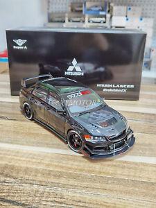 1/18 Super A Mitsubishi Lancer EVO Metal Diecast Model Car Gifts Toys Hobby
