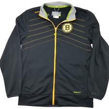 Reebok Mens Large Black Center Ice Boston Bruins Zip Up Track Jacket