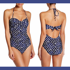 NEW Robin Piccone Audrey Bandeau One-Piece Swimsuit in Sapphire [SZ 10 ] #R784
