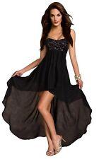 Aimerfeel womens black or beige bustier dress short front and long flowing back.