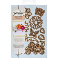 Spellbinders Shapeabilities Dies-Jewel Flowers & Flourishes