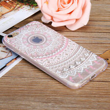 Henna Flower Paisley Tribal Clear Soft Cover Phone Case for iPhone SE 5s 6s Plus