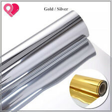 "40""x100ft Foil Aisle Runner Mirror Rug Double Sided Carpet Wedding Gold Silver"