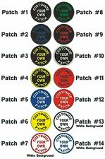 "*Guaranteed* Custom Embroidered Patch 3� Round Curved text ""Iron on"", Free ship."