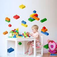 Building Blocks Wall Decal, Lego Wall Sticker, Bricks Wall Sticker Kids Room
