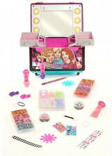 Barbie Sparkle And Shine Rolling Vanity, Play Make up Kit for girls Kids gift