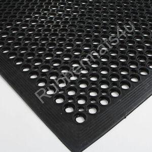 Non-Slip Anti-Fatigue Rubber Indoor & Outdoor Door Entrance Workshop Mat 3 Sizes