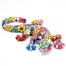 "Barcino Salamander Gecko Lizard Mosaic Limited Edition Flower 3.75"" Magnet 47678"