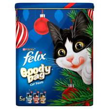 Felix Goody Bag Christmas Tin Cat Treats 300g