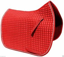 Red Dressage Saddle Pad w/White Piping |  by PRI Pacific Rim