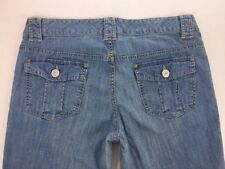 Banana Republic Women's Booctut Stretch Jeans Size 08 Light Wash Flap pockets