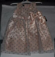 HOLIDAY EDITIONS GIRLS PINK DRESS 3T SILVER GLITTER NETTING BOW+