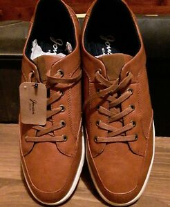 Jousen Milan Men's Brown Casual Lace Up Shoes Size 12. Free shipping.