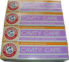 4 x ARM AND HAMMER GREEN MINT GEL CAVITY CARE BAKING SODA TOOTHPASTE - MINTY GEL