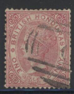 British Honduras Queen Victoria 1d rose stamp (SG18) dated 1872-79