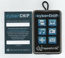 """Internet Safety """"cyber Chip"""" Award Patch & Card (Cub Scout), Mint!"""