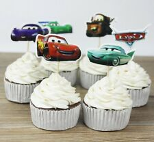 NEW Disney Cars Theme Character Cupcake Toppers x 24 - For Parties