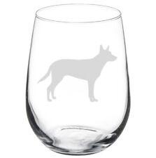 Australian Kelpie Dog Stemmed / Stemless Wine Glass