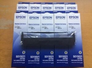10 x Epson S015021 #7753 LQ-300+II Ribbon Cartridges C13S015021 VOSA MOT Bundle