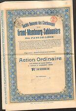 Charbonnages du GRAND-MAMBOURG-SABLONIERE (LIEGE BELGIQUE) (M)