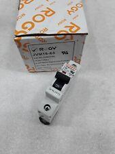 Jvm1C03 Rogy Din Rail Circuit Breaker 1 Pole 3 Amp 277V New