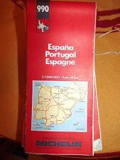 carte michelin 990 Espagne  portugal 1990