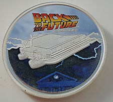BACK TO THE FUTURE Silver Coin Time Travel Machine Colour Car Comedy Spielberg