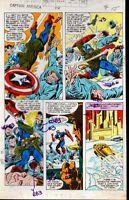 1979 Captain America 238 page 15 Marvel Comics color guide comic book art:1970's
