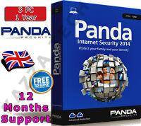 PANDA INTERNET SECURITY 2014 3 PC USER 1 YEAR! Activation License Key AntiVirus