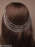 Grecian Headband Chain Goth Punk Boho Alice Hair Band Cuff Pin Head Clip Grips