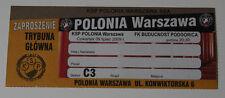 old TICKET EL Polonia Warszawa Poland Buducnost Podgorica Montenegro