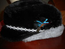 Men's Vintage  Mid Century Style Cossack Hat EAR FLAPS Faux Fur w Tag  -USA
