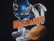 NFL Chicago Bears National Football League Fan Classic Style Black T Shirt XL
