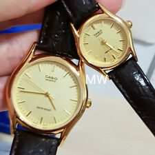 CASIO DATE ANALOG LEATHER DRESS COUPLE LOVER PAIR WATCH MTP/ LTP-1094Q-9A GIFT