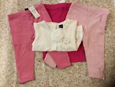Nwt Baby Gap Girls Size 12 - 18 months 4 piece pants set Pink