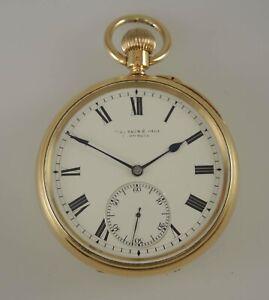 18K Gold Kew Observatory Grade Karrusel pocket watch London 1903