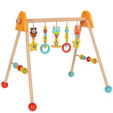 Baby Spielbogen Holz Spieltrapez Krabbeldecke Spielzeug Motorik Activity Center