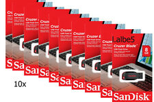 10x SanDisk 8GB Cruzer Blade 8G USB2.0 USB Flash Drive Disk CZ50 Lot of 10pcs