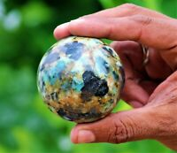 Trully 60MM Green Chrysocolla Stone Healing Charged Reiki & Chakras SPHERE