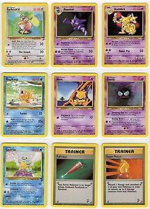 Pokemon Team Rocket Set Basic / Stage 1 Trainer Energy You Pick the Card