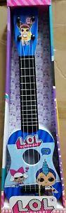 Kids Girls Beginners Guitar 4 String Toys Children Music LOL BLUE Toy UK SELLER