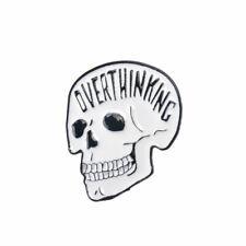 Creative Punk Skull Enamel Brooch Lapel Denim Jacket Pin Badge Brooches Gift