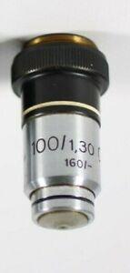 Zeiss Winkel Mikroskop Objektiv 100 / 1,30 Oel 160/-