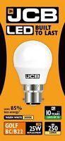 5x JCB 3w LED BC /B22 mat balle de golf ampoule 250lm 3000k blanc chaud (s10967)