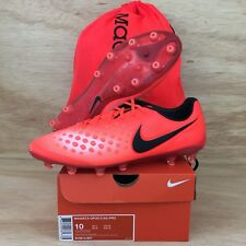 Nike Magista Opus II 2 AG Pro Soccer Cleats Sz 10 BOOTS Men Orange Crimson Black