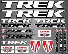 Trek decals stickers sheet (cycling, mtb, bmx, road, bike) PRINTED logo