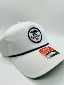 Cypress Point Club White Navy Embroidered Unworn New Golf Cap Hat Mint Rare NWT
