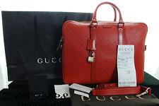 BNWT 100% Autentico Gucci Pelle Arancione Diamante Zip Top VALIGETTA RRP £ 1470